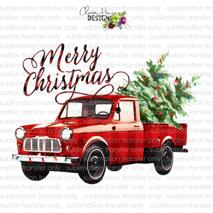 Merry Christmas Truck (Sublimation Transfer)