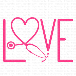 Stethoscope Love (Sublimation Transfer)