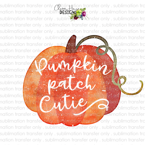 Pumpkin Patch Cutie (Sublimation Transfer)