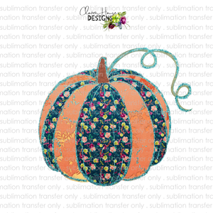 Quilted Pumpkin (Sublimation Transfer)