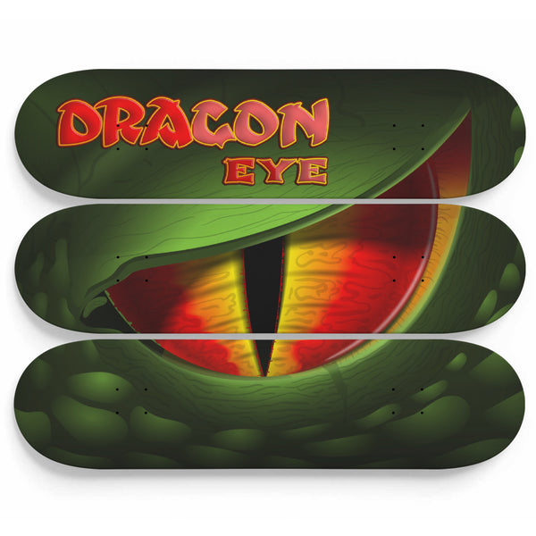 Skate Deck Art Dragon Eye 3 Piece Set