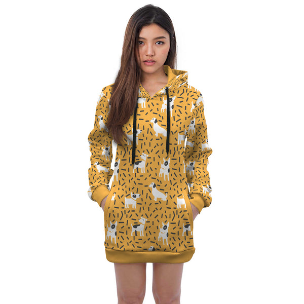 Yellow Mini Dress Hoodie