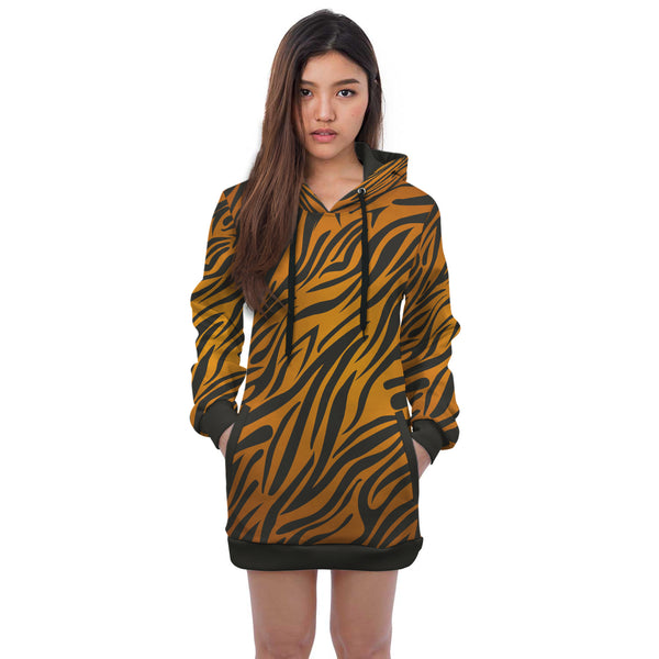 African Mini Dress Hoodie For Women
