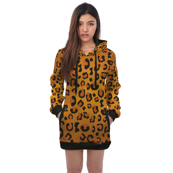 African Animal Dress Hoodie Print