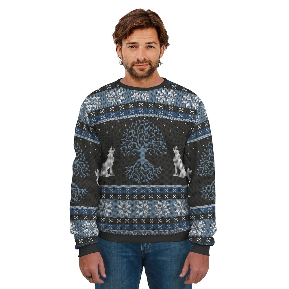 Ugly Christmas Sweater Blue And Black Pattern