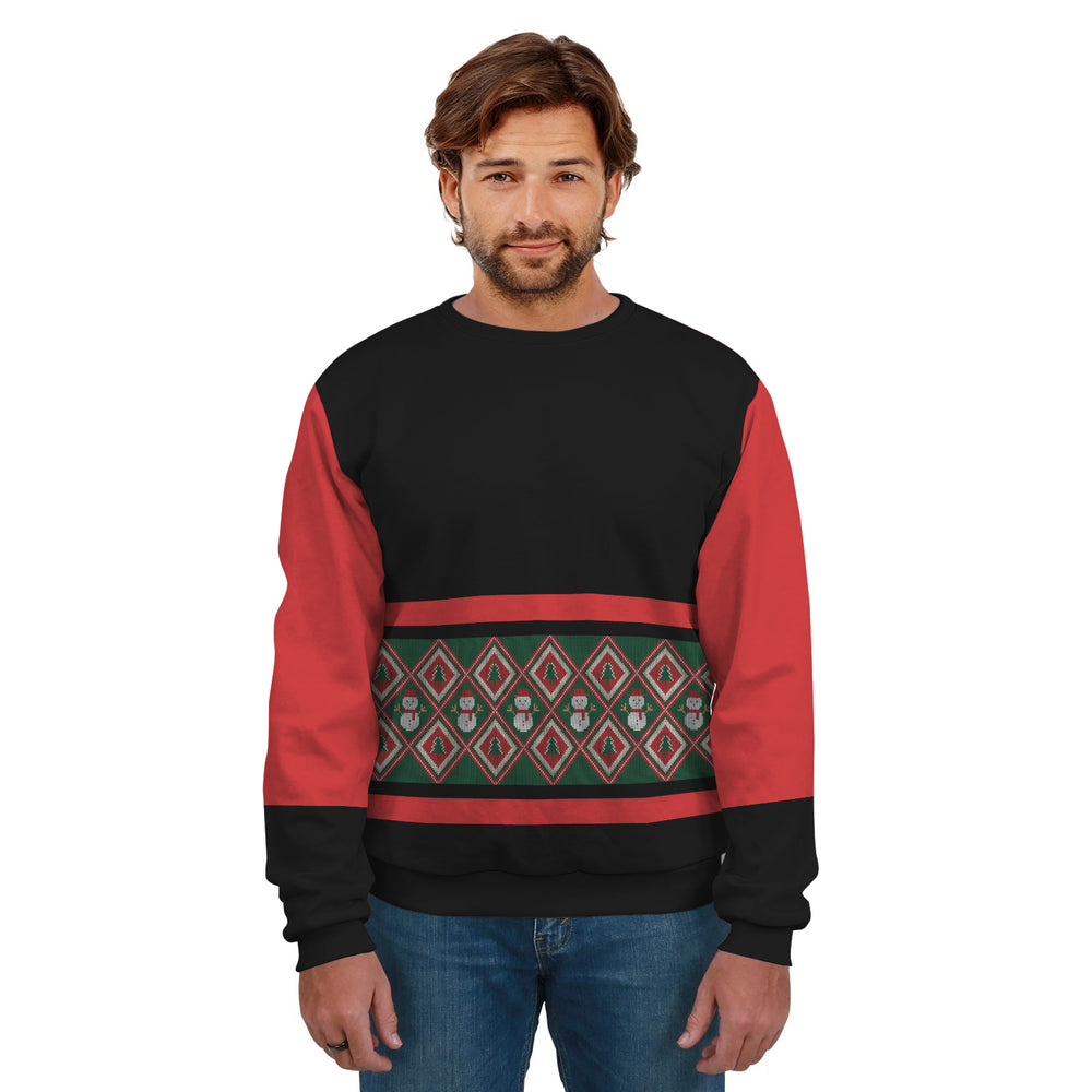 Ugly Christmas Sweater Red Black And Green