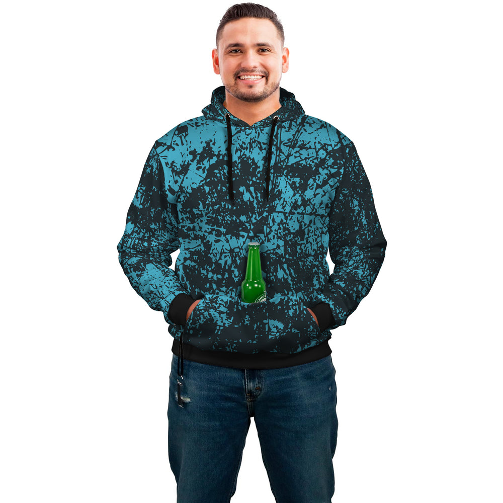 Blue And Black Splatter Hoodie