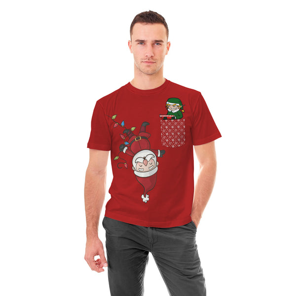 Funny Christmas Red Pocket Tshirt