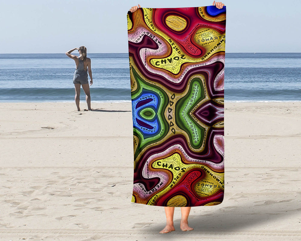 Beach Towel Colorful Design Chaos