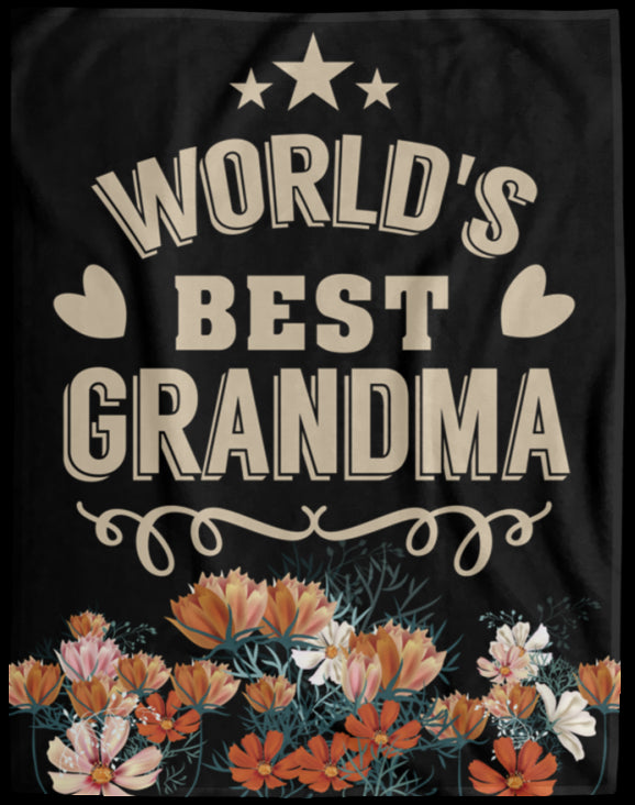 Gift For Grandma Velveteen Fleece Blanket