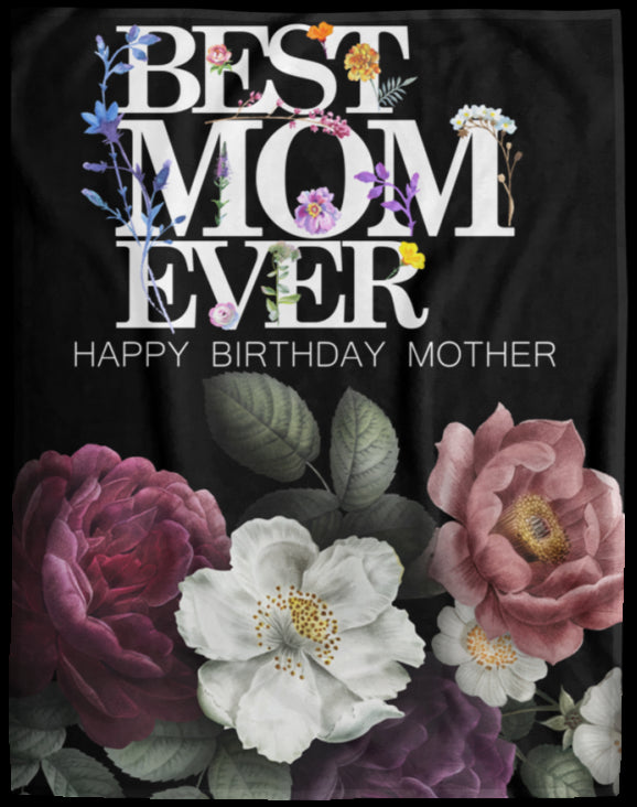 Mom Birthday Blanket Cozy Plush Fleece Blanket