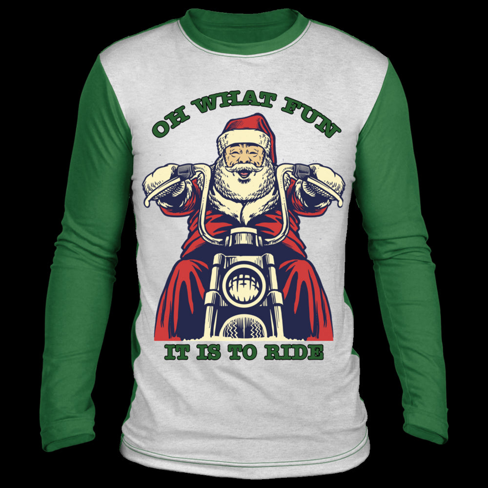 Santa Ugly Christmas Sweater Green
