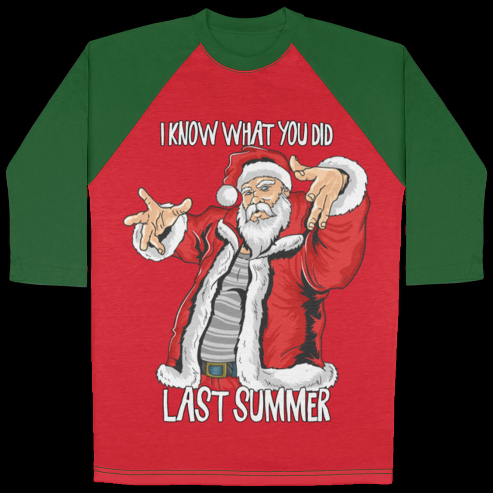 Santa Shirt Raglan Green And Red