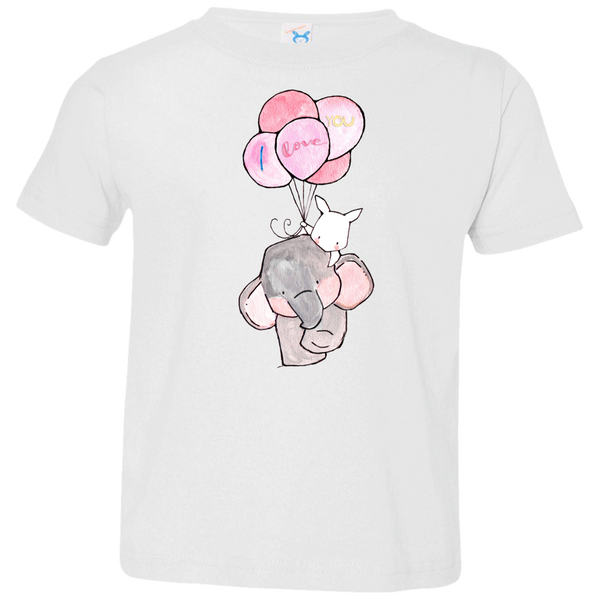 I Love You Elephant Kids Jersey T-Shirt