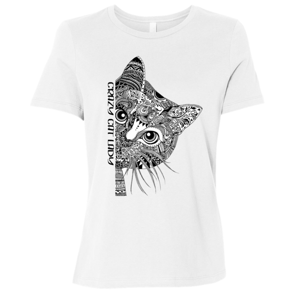 Crazy Cat Lady Ladies' Relaxed Short-Sleeve T-Shirt