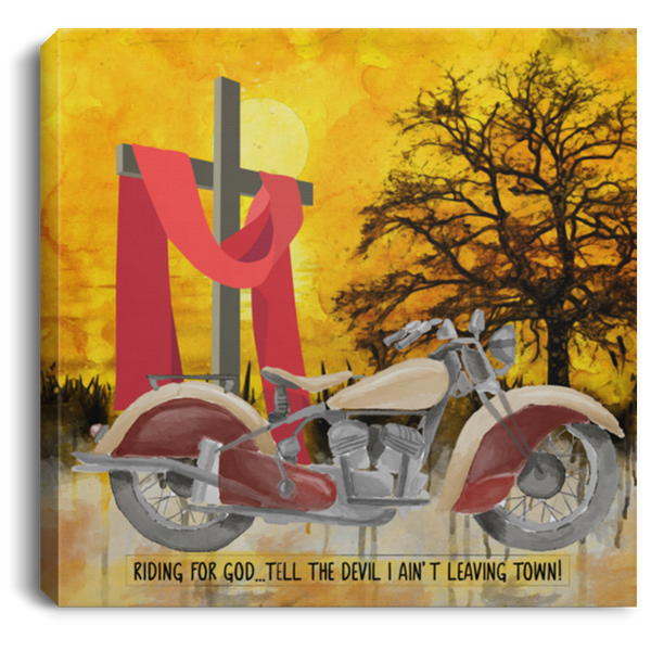 Christian Art Bikers For Christ. Beautiful Water Color Art
