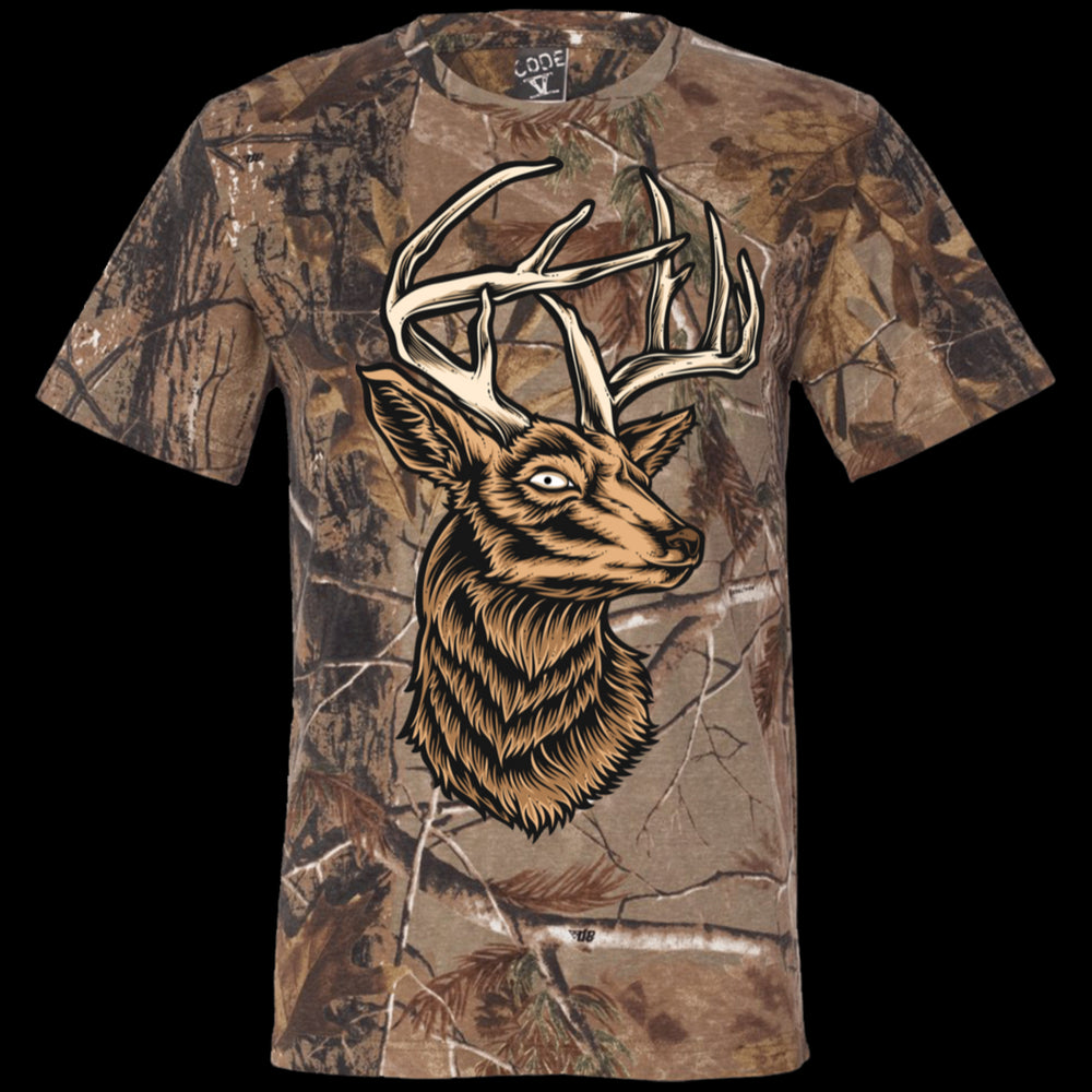 Deer Short Sleeve Camouflage T-Shirt