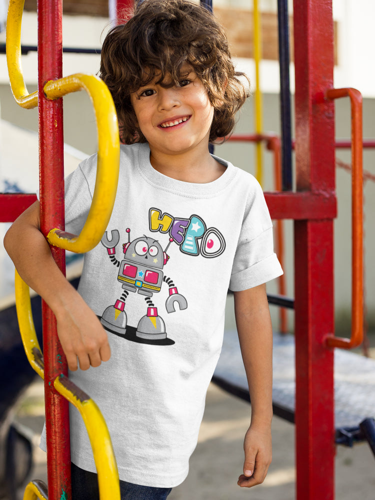 Hero Robot Boys' Cotton T-Shirt