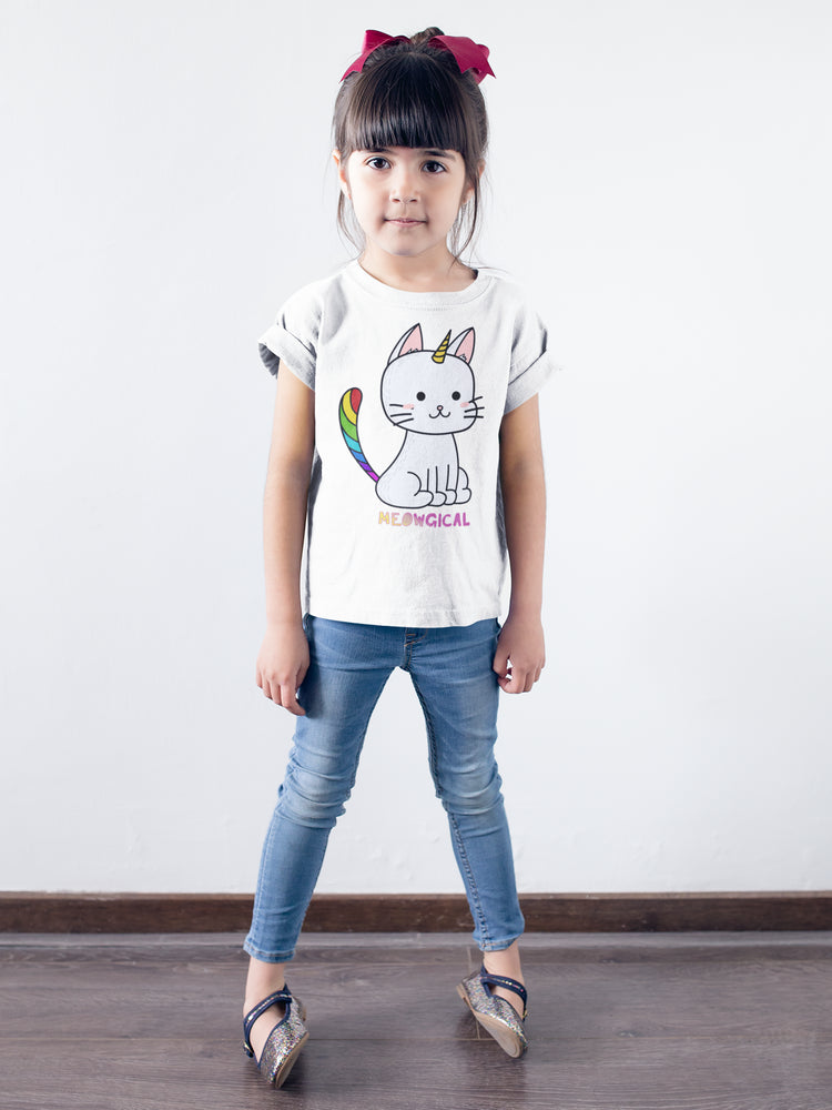 Meowgical Cat Unicorn Girls T-Shirt