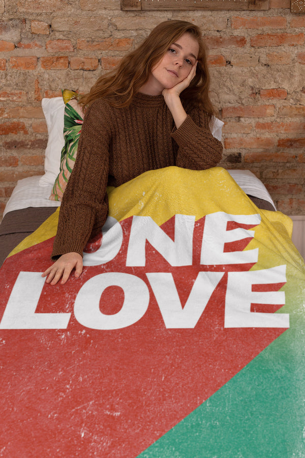 One Love Extra Large Fleece Sherpa Blanket