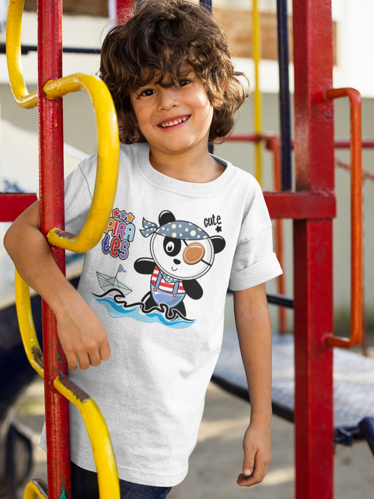 Panda Pirate Boys' Cotton T-Shirt