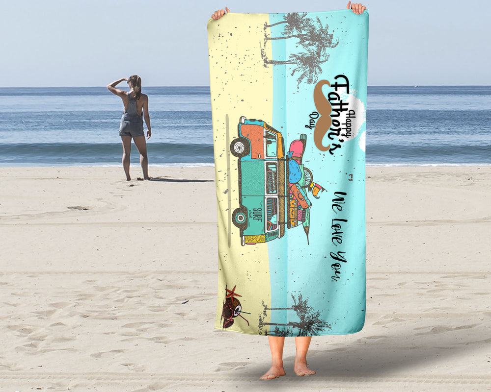Fathers Day Beach Towel For Dad
