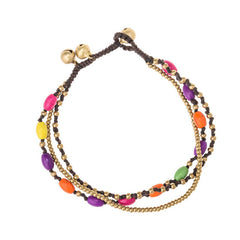 Colored Stone Beaded Anklet