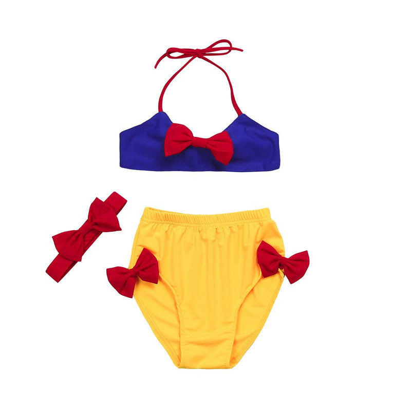 Toddler Kid Baby Girl Bowknot BIkini Set Swimwear Swimsuit Bathing