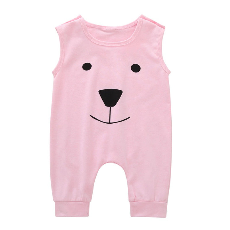 Infant Baby Girls Boys Cartoon Bear Jumpsuit Romper