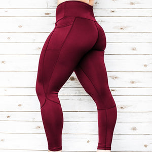 Women's Solid Workout Leggings Fitness Sports Gym Running