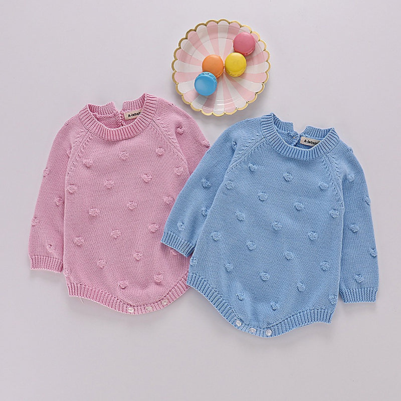 Infant Newborn Baby Boy Girl Knit Romper Bodysuit Crochet
