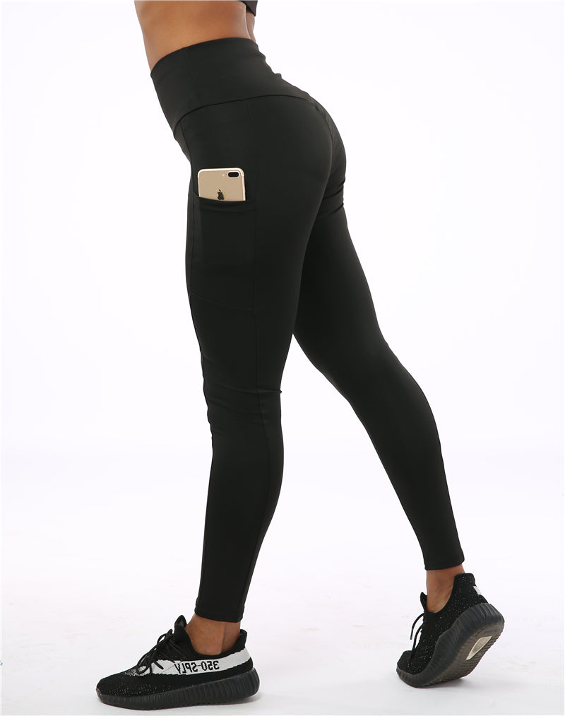 """Pocket"" High Waist Leggings With Pockets - FashionFit"