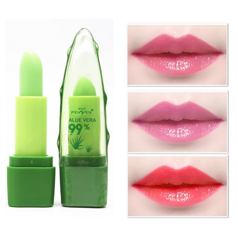 99% Natural Aloe Vera Temperature Color-Changing Lip Balm - FashionFit