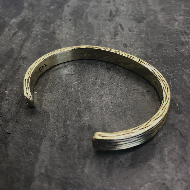 Threaded Cuff in Antiqued Brass