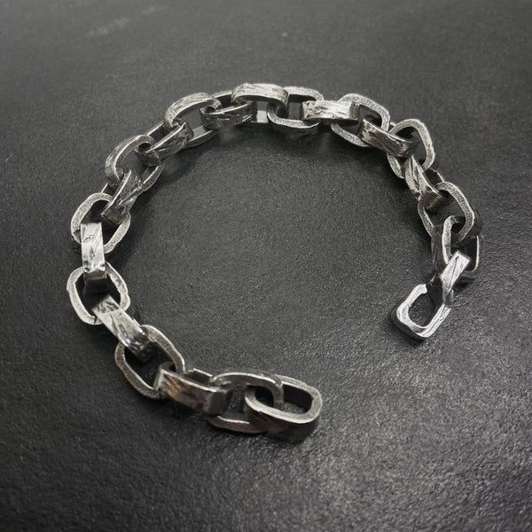 Broken Link Chain Bracelet in Silver