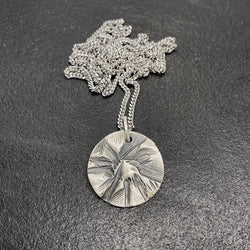 Peak Medallion in Oxidized Silver