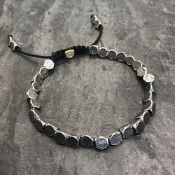 Hex Bracelet in Oxidized Silver