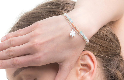 AM01-04B : Four leaf clover bracelet