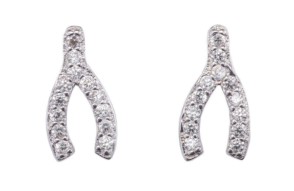 AM01-06E : Stardust wishbone earrings