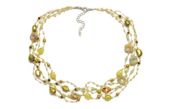 T51-01 : Silk & Stones Necklace