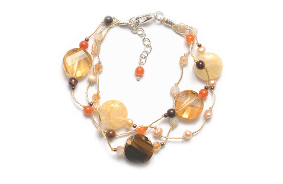 T55-02 : Silk & Stones Necklace
