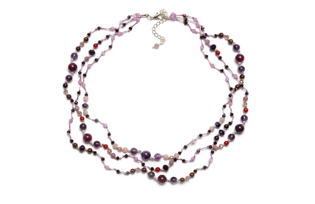 T56-01 : Silk & Stones Necklace
