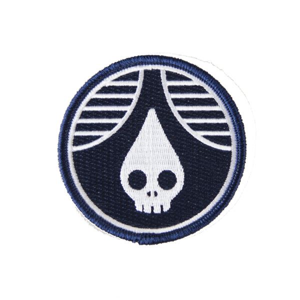 Navy Skull Drop Patch