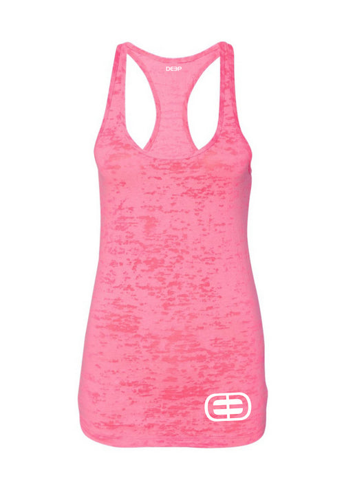 Women's Triblend Tank Pink Burn Out