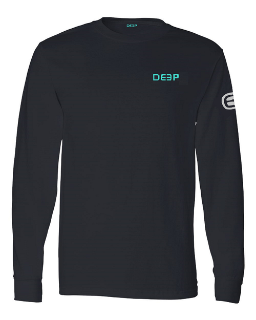 Black Cotton Long Sleeve - Mint  / Light Grey