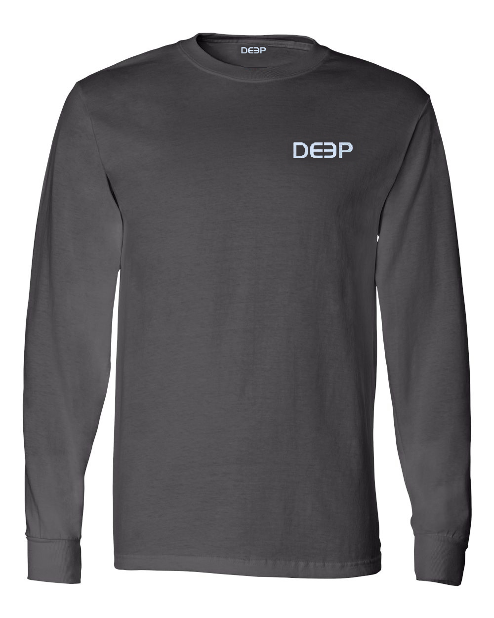 Classic Fins Cotton Long Sleeve - Charcoal