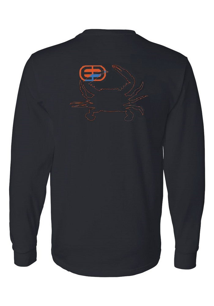 Outline Crab Cotton Long Sleeve