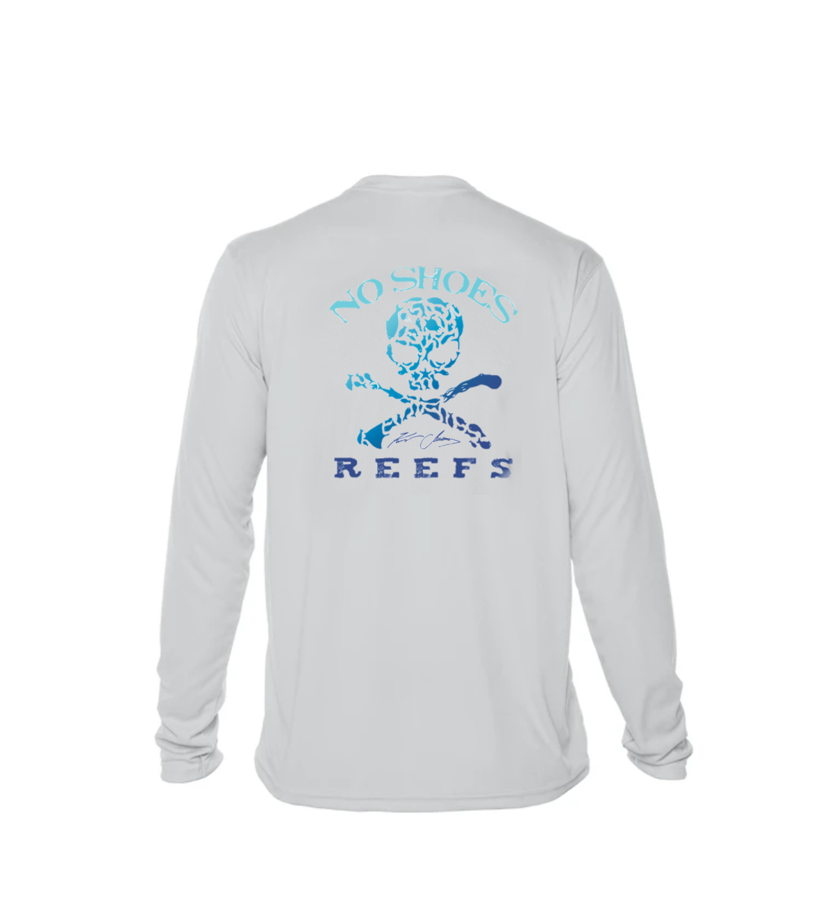 Cruz Bay /  No Shoes Reefs Repreve Long Sleeve Performance - Pearl Grey