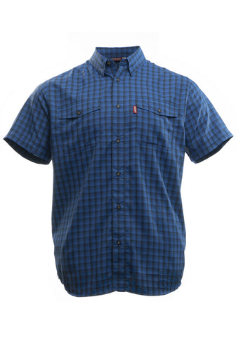 Boat TO> Bar: Light Blue Stretch Plaid