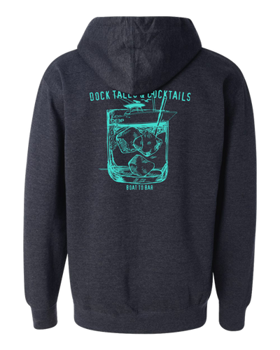 Dock Tales and Cocktails Hoodie - navy